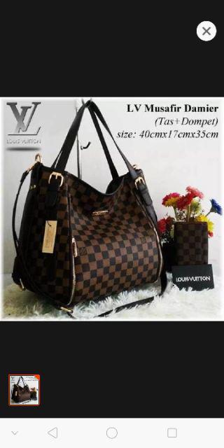 f583945f381a fashion TAS LV SET DOMPET TAS BATAM IMPORT MURAH WANITA TAS RANSEL ...