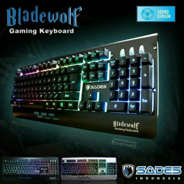 Sades Bladewolf Keyboard gaming RGB with sound sensor ORI | Shopee Indonesia
