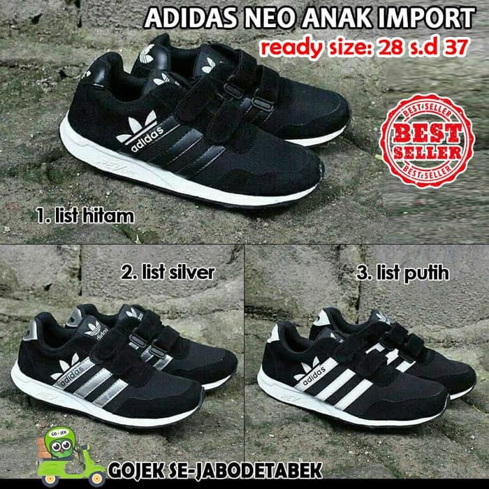 Sale!! Sepatu Adidas Neo Anak Import. Sepatu Sekolah Anak. Adidas ... b042352cc4