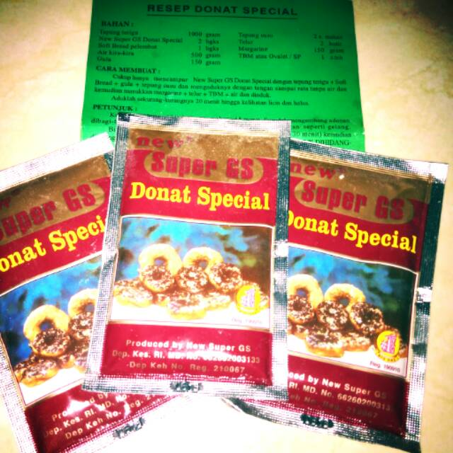 Ragi Donat Super Gs 11gr 1sachet Shopee Indonesia