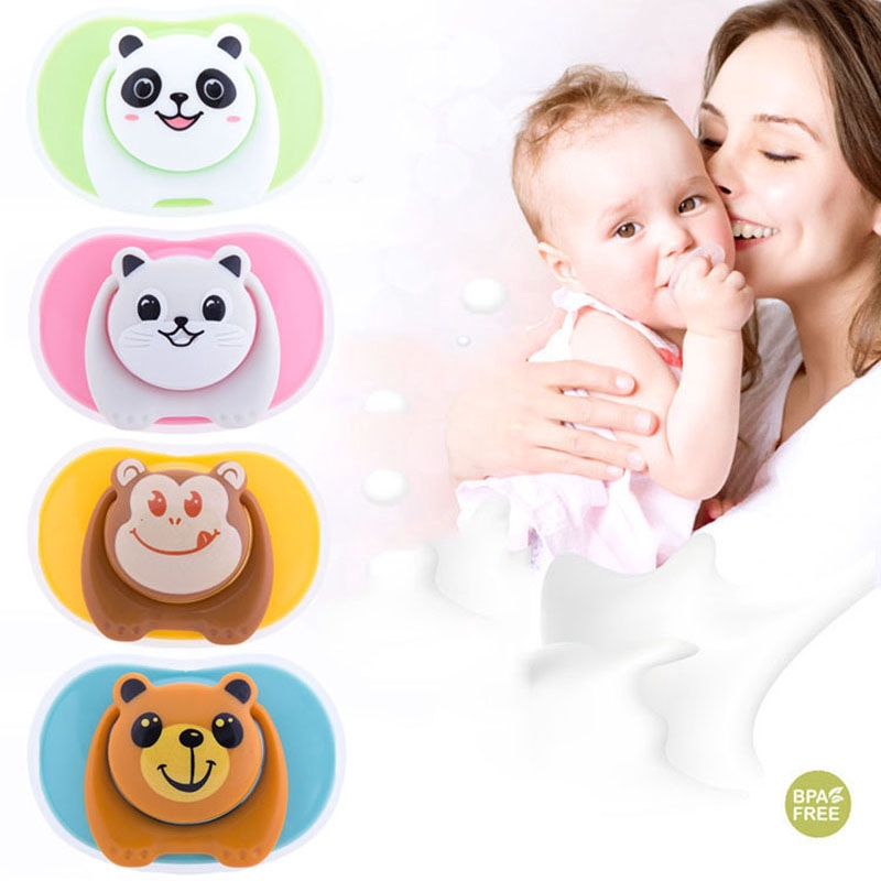 Newborn Baby Cartoon Silicone Pacifier Funny Nipple Pacifier Accessories