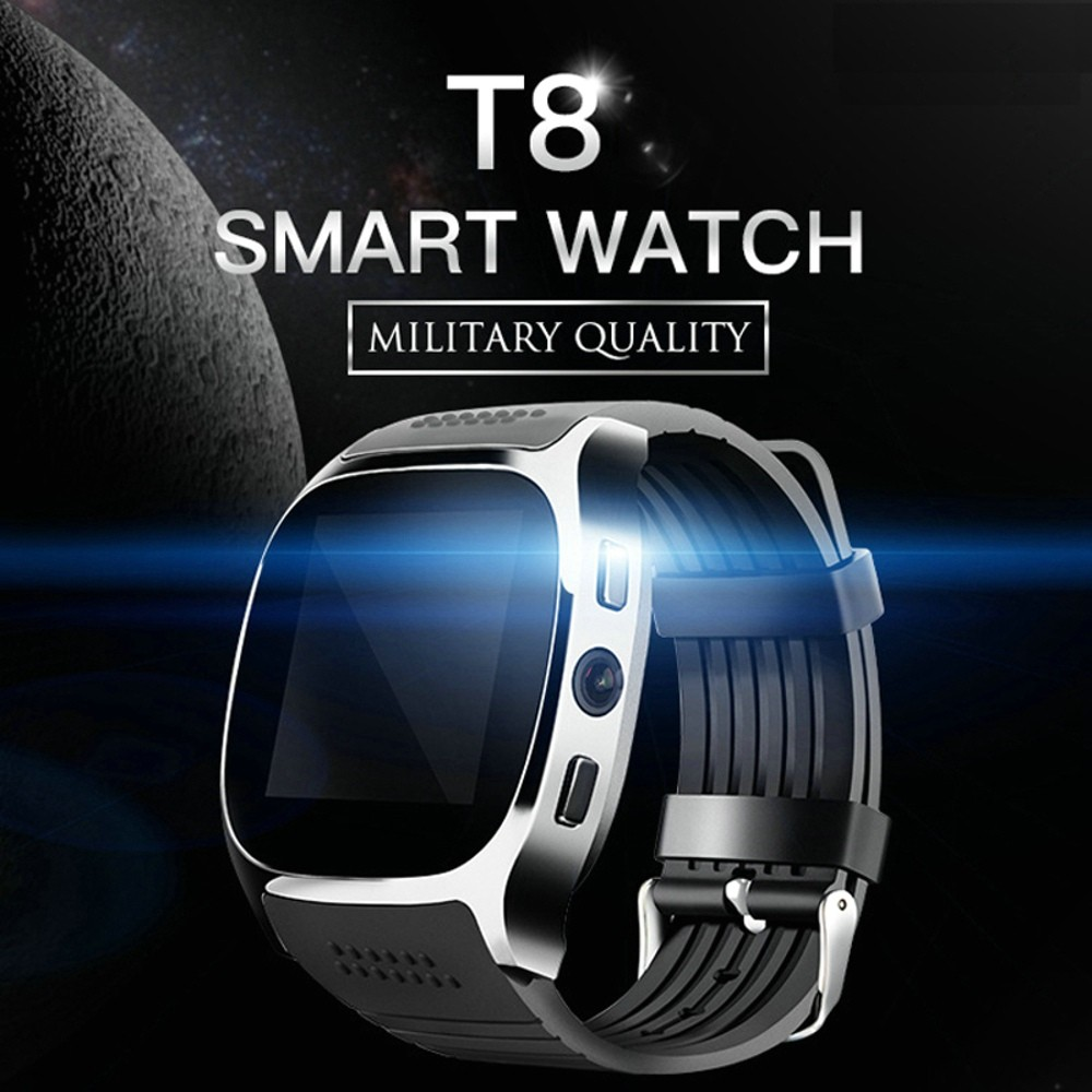 """T8 Smart Watch Bluetooth Screen LCD TFT 1.54"""" Fitur Kamera, Facebook, Whatsapp, Sync SMS 