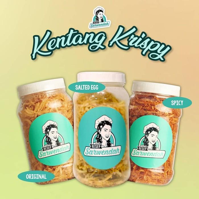 Resep Sarwendah Kentang Crispy Kriuk Original Pedas Salted Egg Keripik Kentang Shopee Indonesia