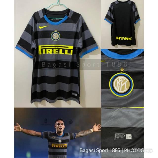 Jersey Baju Bola Kit Inter Si Ular La Beneamata Third 3rd Ketiga 2021 Import 2020 21 Hitam Terbaru Shopee Indonesia