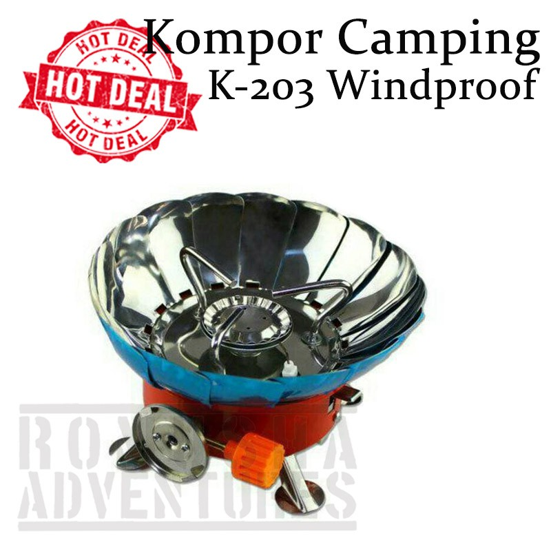 Kompor gunung camping portable kembang bunga windproof outdoor mini | Shopee Indonesia