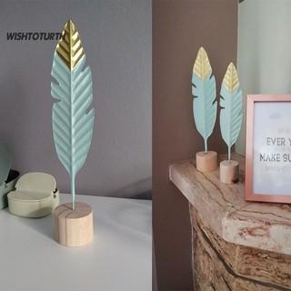 hiasan meja bentuk bulu modern bahan kayu untuk dekorasi