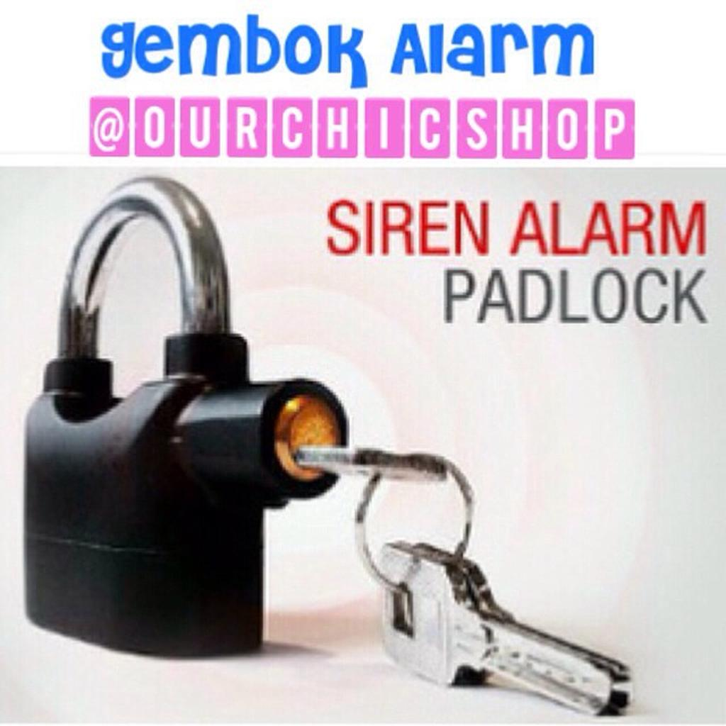 Gembok Alarm Anti Maling Kunci Pengaman Motor Rumah Pagar Pintu Kinbar Shopee Indonesia