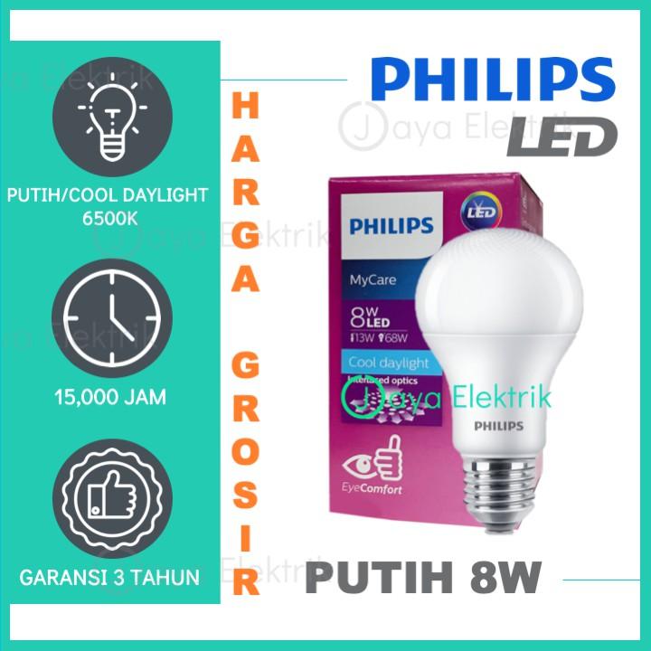 Lampu Philips Led 8 Watt Putih Cool Daylight 6500k 8w 8 W 8watt Lampu Led Bulb Philips Shopee Indonesia