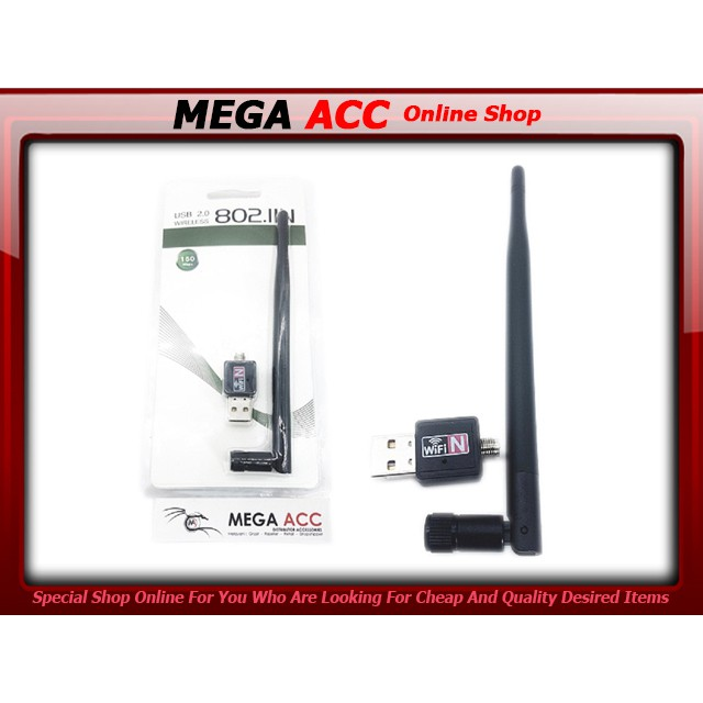 USB WiFi Wireless Adapter Mini 150Mbps Dongle LAN Card 802 11n