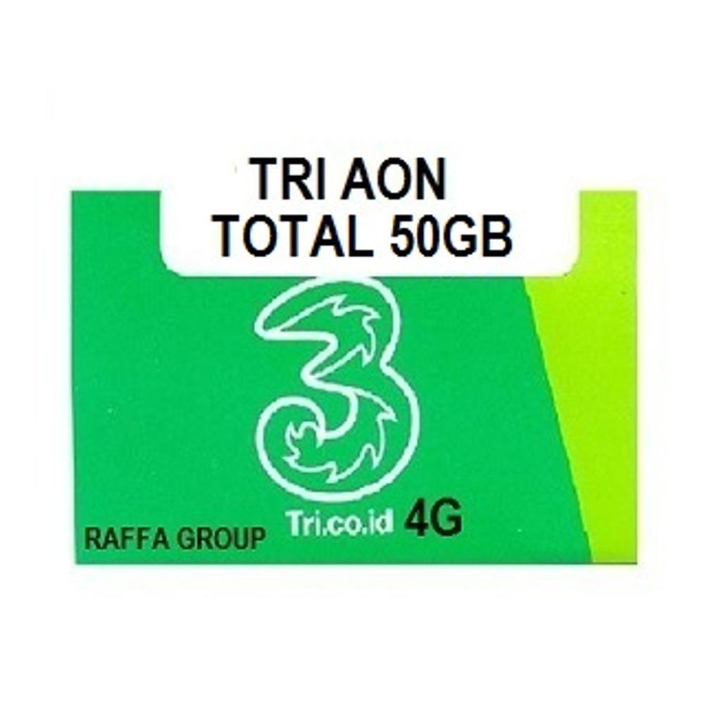 Promo Kartu Perdana Tri Three 50gb Aon 3 Internet 10gb 20gb 4g Reguler 0 6 7122 Shopee Indonesia
