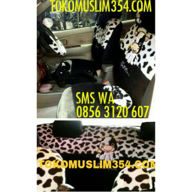 Sarung Jok Moo Sapi Mobil 18 in 1 Bantal Mobil 18in1 Moo Sapi - Hitam (2 Baris)   Shopee Indonesia