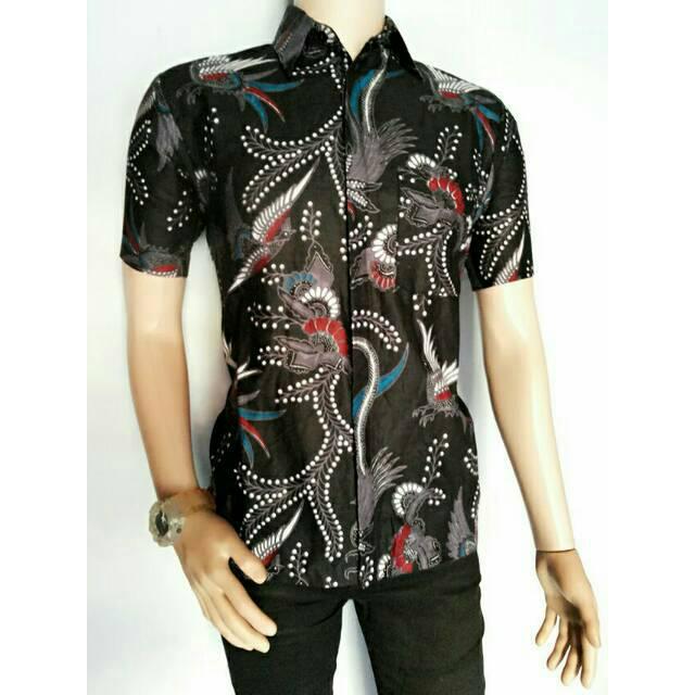 Dt Collection Batik Pekalongan Kemeja Hem Batik Pria Lengan Pendek ... c73758bb56
