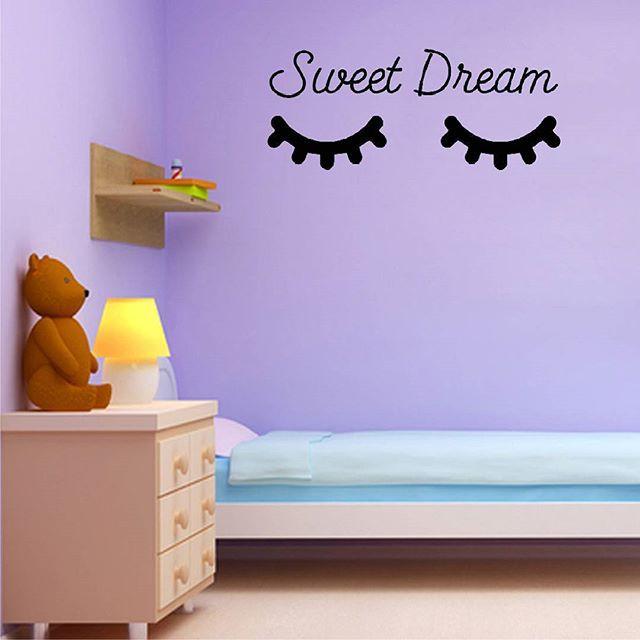 Wallsticker / Sticker / Stiker Sleepy Eyes Sweet Dream