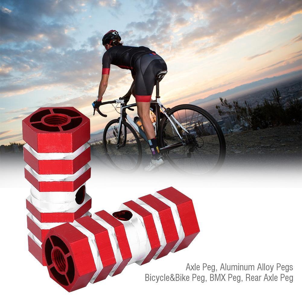 1 Pair of Aluminum Mini Red Premium Alloy Foot Pegs for BMX Standard Bikes