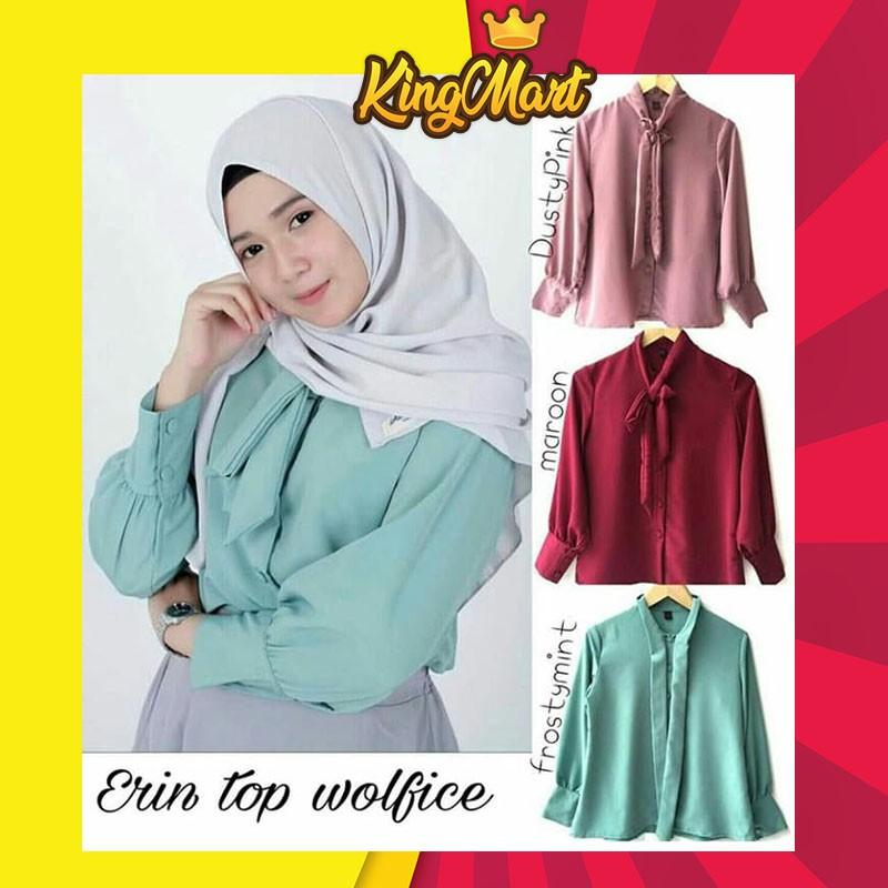 Apik Owl Baju Blouse Tunic Tunik Atasan Jumbo Wanita Juntai Busui Kaos Lengan Panjang Baju Muslim | Shopee Indonesia