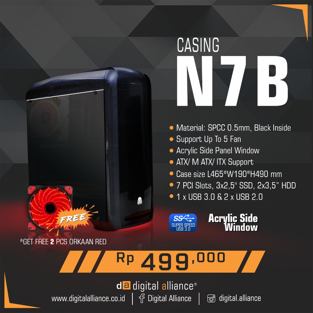 Digital Alliance Mouse Gaming G7 Alpha Dark Gray Shopee Indonesia Drak