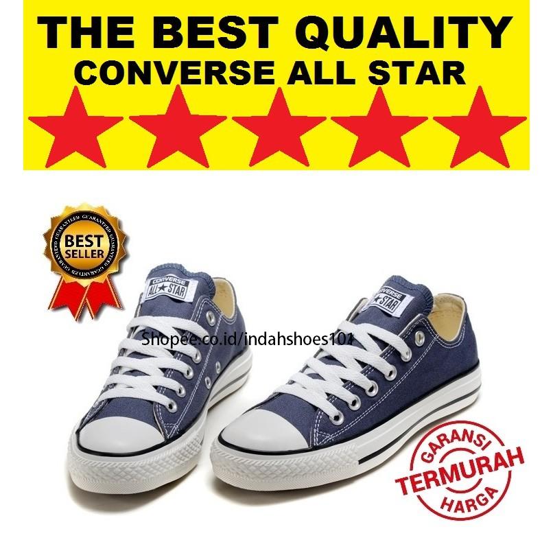 101 ® - Sepatu Wanita Casual Converse All Star CT II Grade Ori Warna Navy  Dengan Sol Putih  2997e27ab8