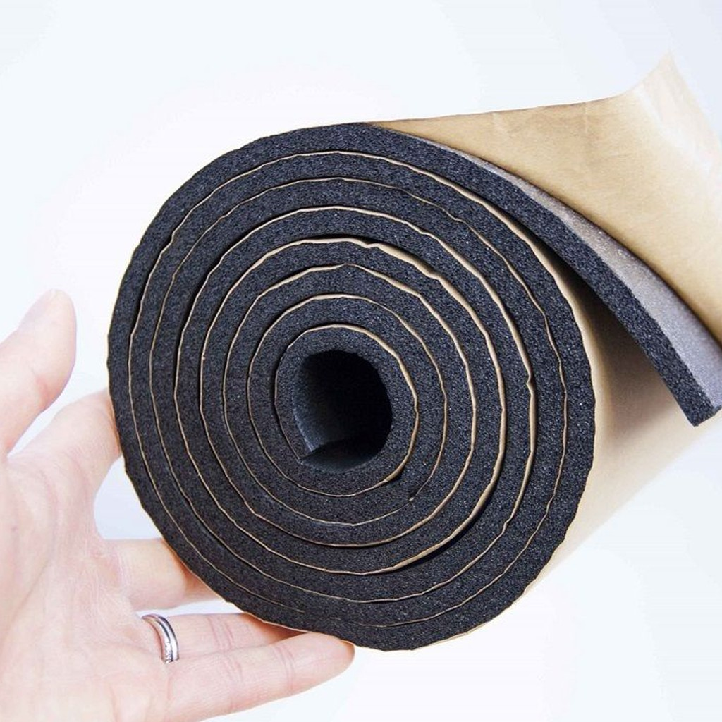 1m x 1m 6mm Closed Cell Foam Waterproof Van Sound Proofing Thermal Sound Deadening Vehicle Car Boat Insulation