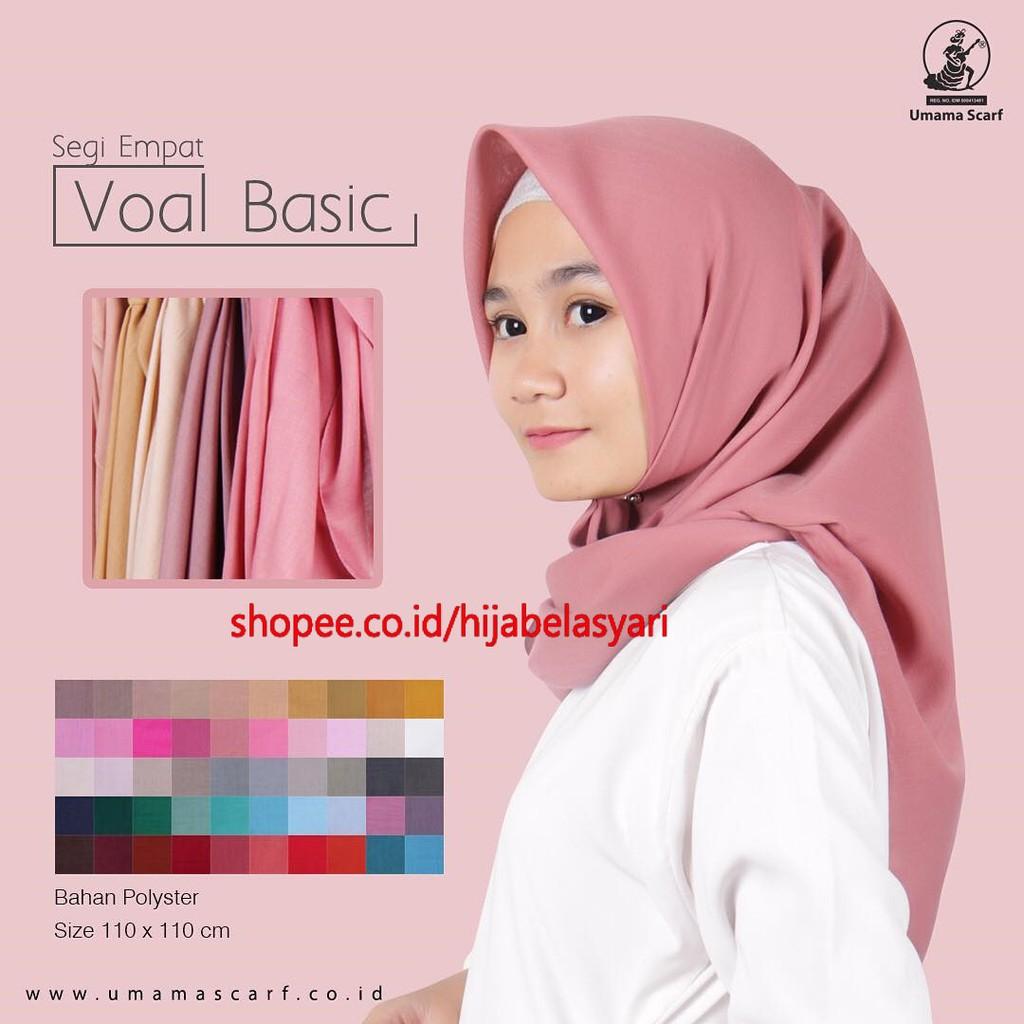 Hijab Segi Empat Umama Scraf Premium Quality Motif Hijau Daftar Eclemix Jilbab Cornskin Black Hitam Scarf Square Segiempat Basic Voal Seri 3 Polycotton Shopee