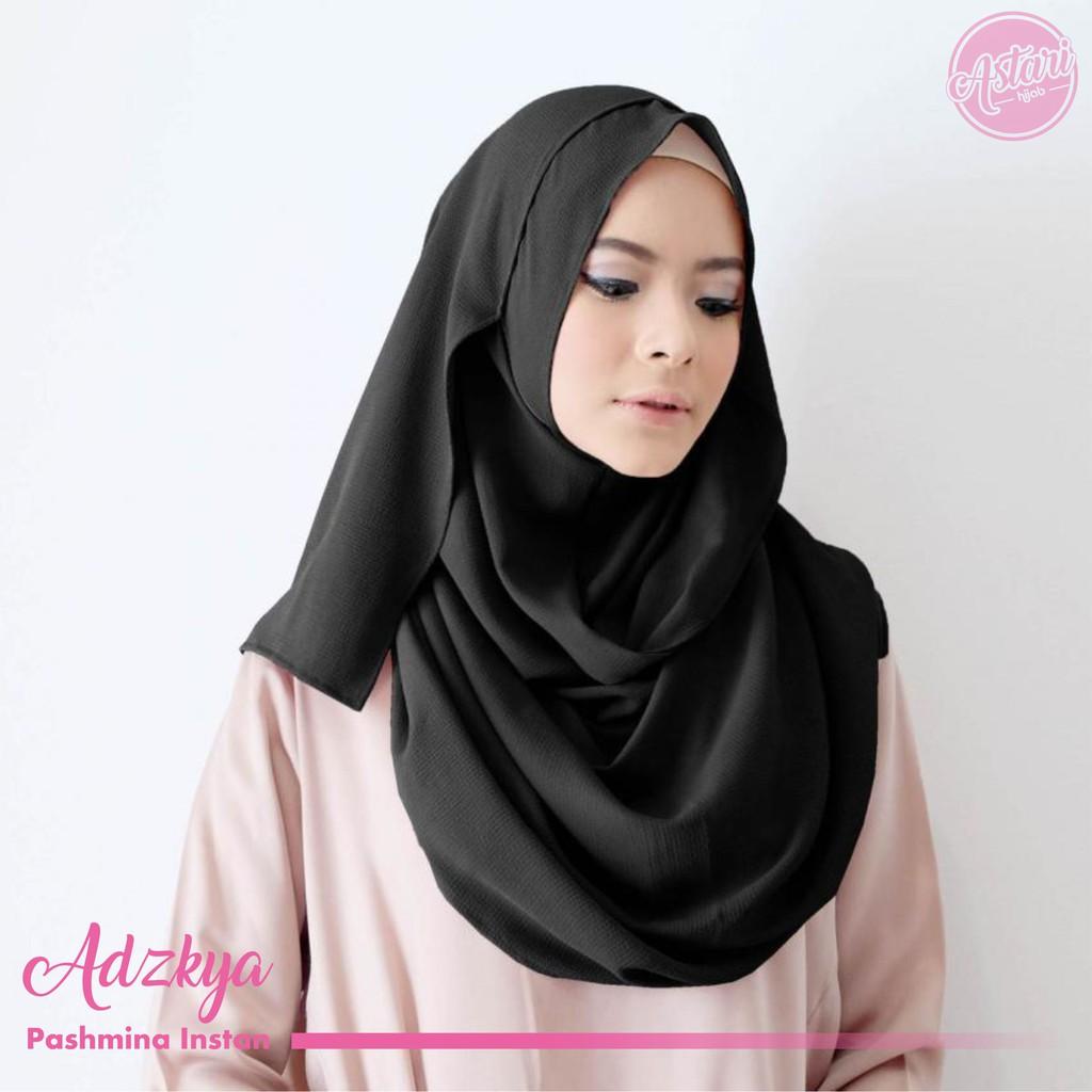 Jilbab Pashmina Instan Adzkya 1 Lubang Shopee Indonesia Sala Size M
