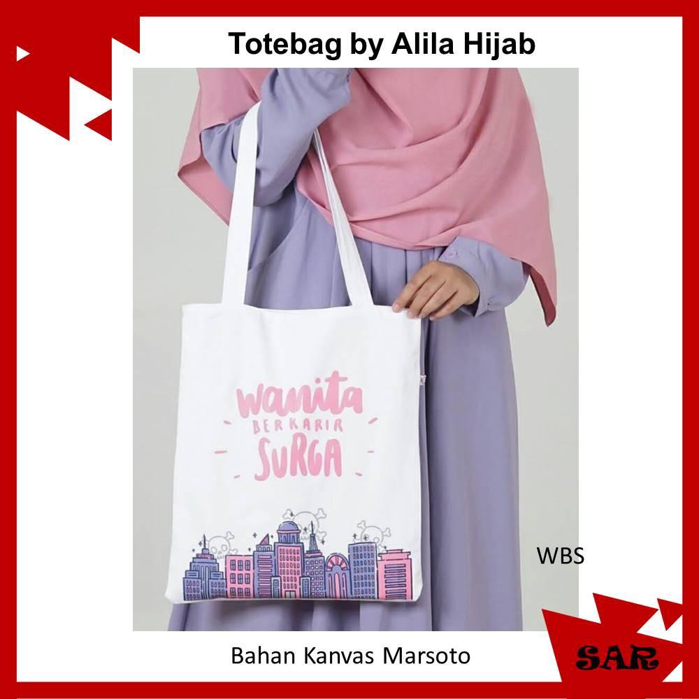 ToteBag Tas Dakwah Bahan Kanvas Marsoto By Alila Hijab Alila Goods