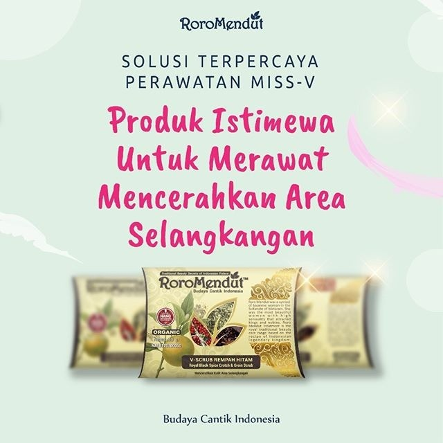 V- SCRUB REMPAH HITAM ROROMENDUT 40gr ( PEMUTIH SELANGKANGAN + SCRUB BOKONG ) | Shopee Indonesia