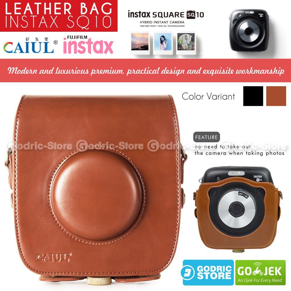 Dijual Fujifilm Leather Bag Polaroid Instax Square Sq10 Tas Case Half Full Strap Casing Tali Kamera Kulit For Mirrorless Sony Alpha A6000 A6300 Warna Brown Coklat Sq 10 Diskon Shopee Indonesia