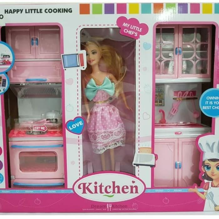 Must Have Mainan Anak Kitchen Set Barbie Terbaru Shopee Indonesia