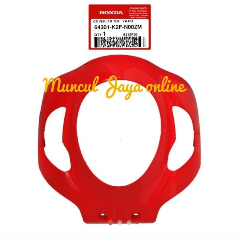 64301-K2F-N00ZM Cover Front Tameng Lampu Depan Scoopy K2F Merah Glossy  Sporty Red Va Rd