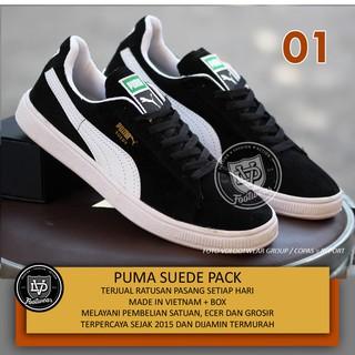 Puma Suede Pack Sepatu Kets Cowok Sepatu Sneakers Pria Casual Sekolah  Kuliah Skate 1c595f96a6