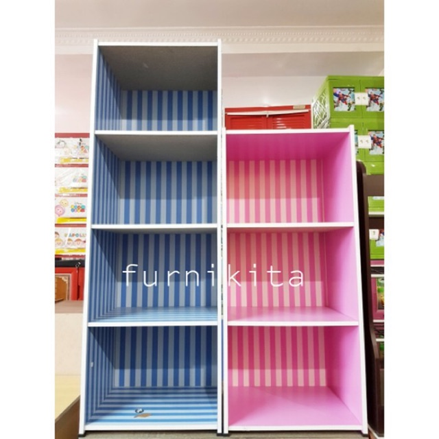 Rak Buku Lemari Buku Serbaguna Susun 3 Big Panel Shopee Indonesia
