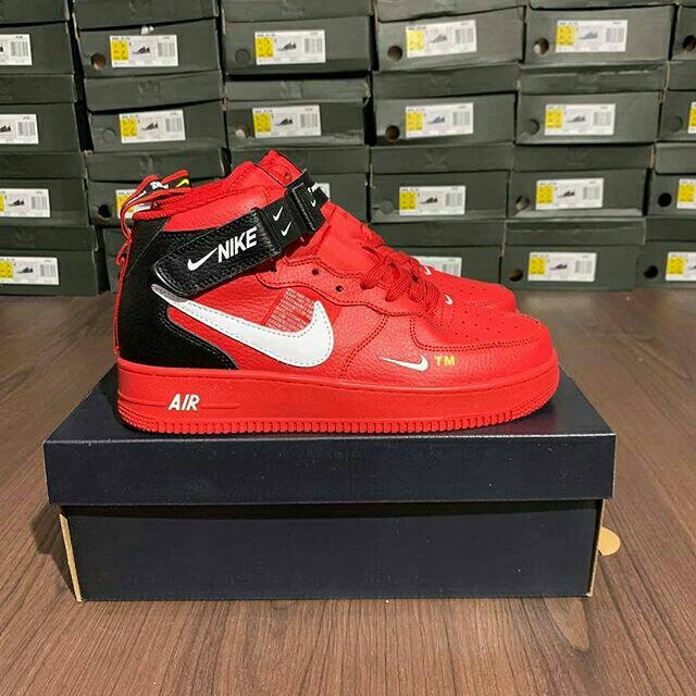 outlet store a0557 11c8e NIKE AIR FORCE 1 07 LV8 MID UTILITY PREMIUM IMPORT   Shopee Indonesia