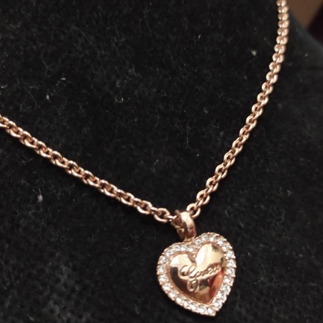Promo Kalung Love Mata Rosegold Guess Original Necklace Cuci Gudang Shopee Indonesia
