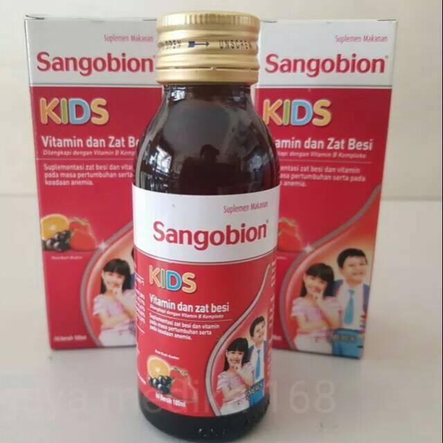 Sangobion Kids Sirup Vitamin Zat Besi Penambah Darah Anak Shopee