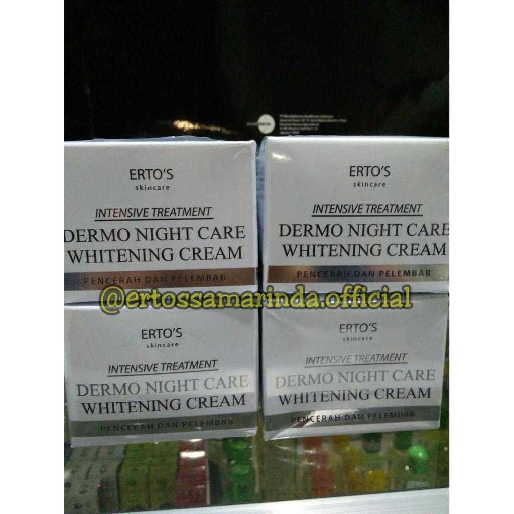 ertos / erto's dermo night care whitening cream /BPOM 100% original | Shopee Indonesia