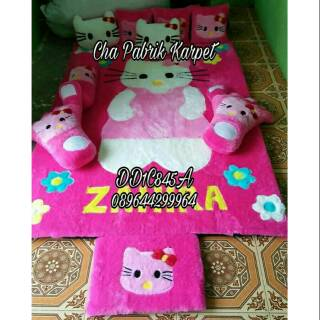 Karpet fullset bulu rasfur surpet kasur karpet karakter hello kitty berdiri pink | Shopee Indonesia