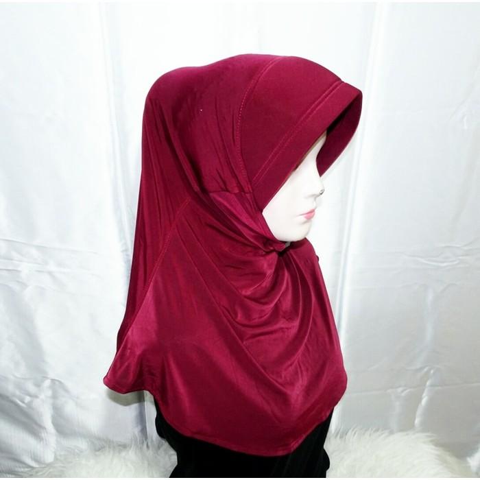 Jilbab Bergo Spandek Instant Shopee Indonesia