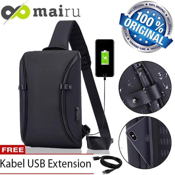 Tas Selempang Sling Bag Messenger Laptop 14