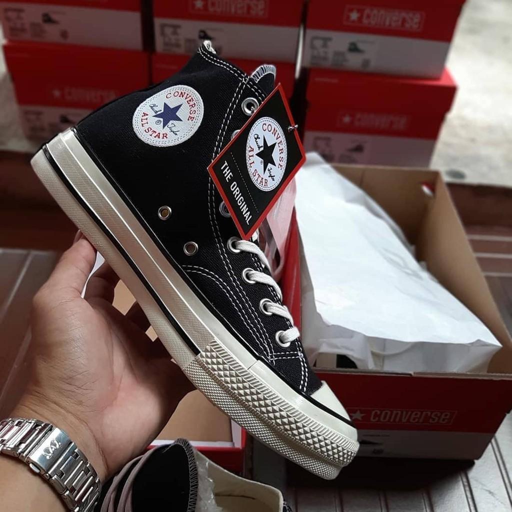 1d564df194fb82 Sepatu converse all star 70s hi black white import premium bnib vietnam ...