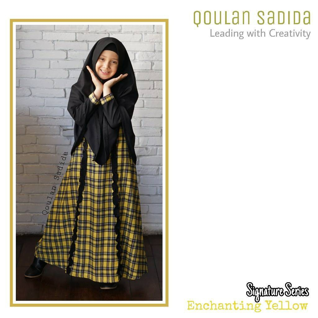 Gamis Anak Enchanting Yellow Signature Series by Qoulan Sadida