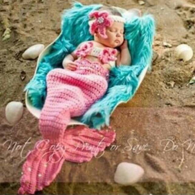 Kostum Costume Mermaid Ekor Duyung Rajut Photoshoot ...