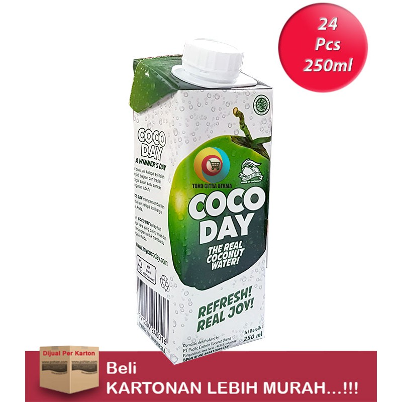 """COCODAY Real Coconut Water 250ml/24""""S"""