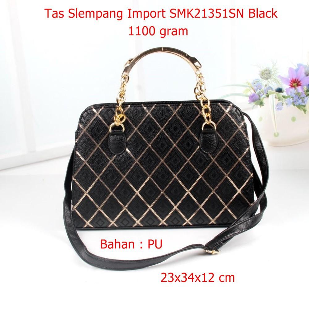 Tas Tali Rantai Smk21997sn Black Selempang Cewek Slempang Import Slingbags Mini Shopee Indonesia