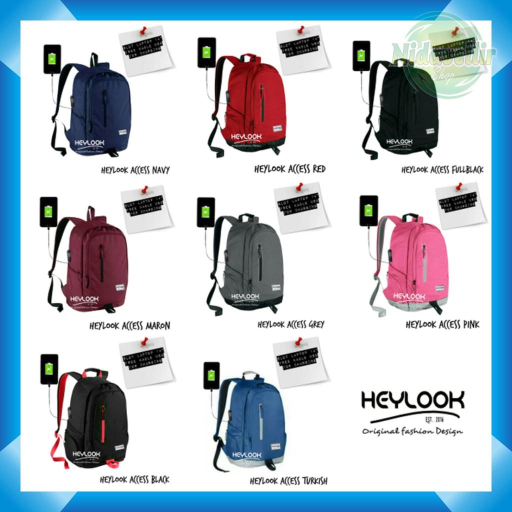 Tas Ransel Sekolah Looper Backpack Cowok Cewek Kuliah Laptop  Pulcher Gewiin Man Fashion Nike Pria Wanita Terlaris Murah Shopee Indonesia