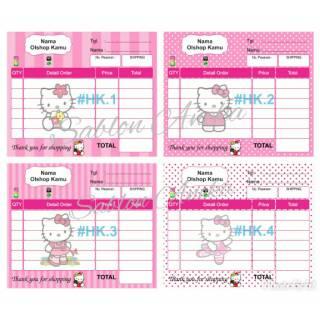 Nota Olshop Karakter Hello Kitty Isi 100 Lembar