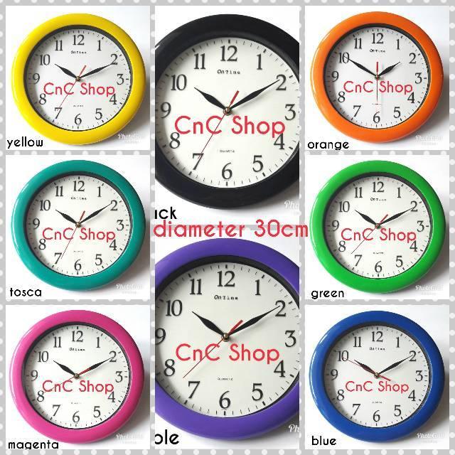 Jam Dinding Murah Ontime 767 warna rainbow  124458d89a