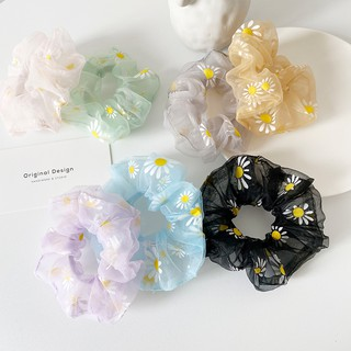 Ikat Rambut Bunga Daisy Gaya INS Korea Segar Kecil Tali Rambut Elastis Untuk Wanita 2
