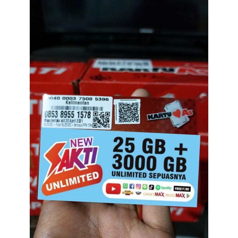 KARTU SAKTI | TELKOMSEL 25GB + 3000GB UNLIMITED MAX