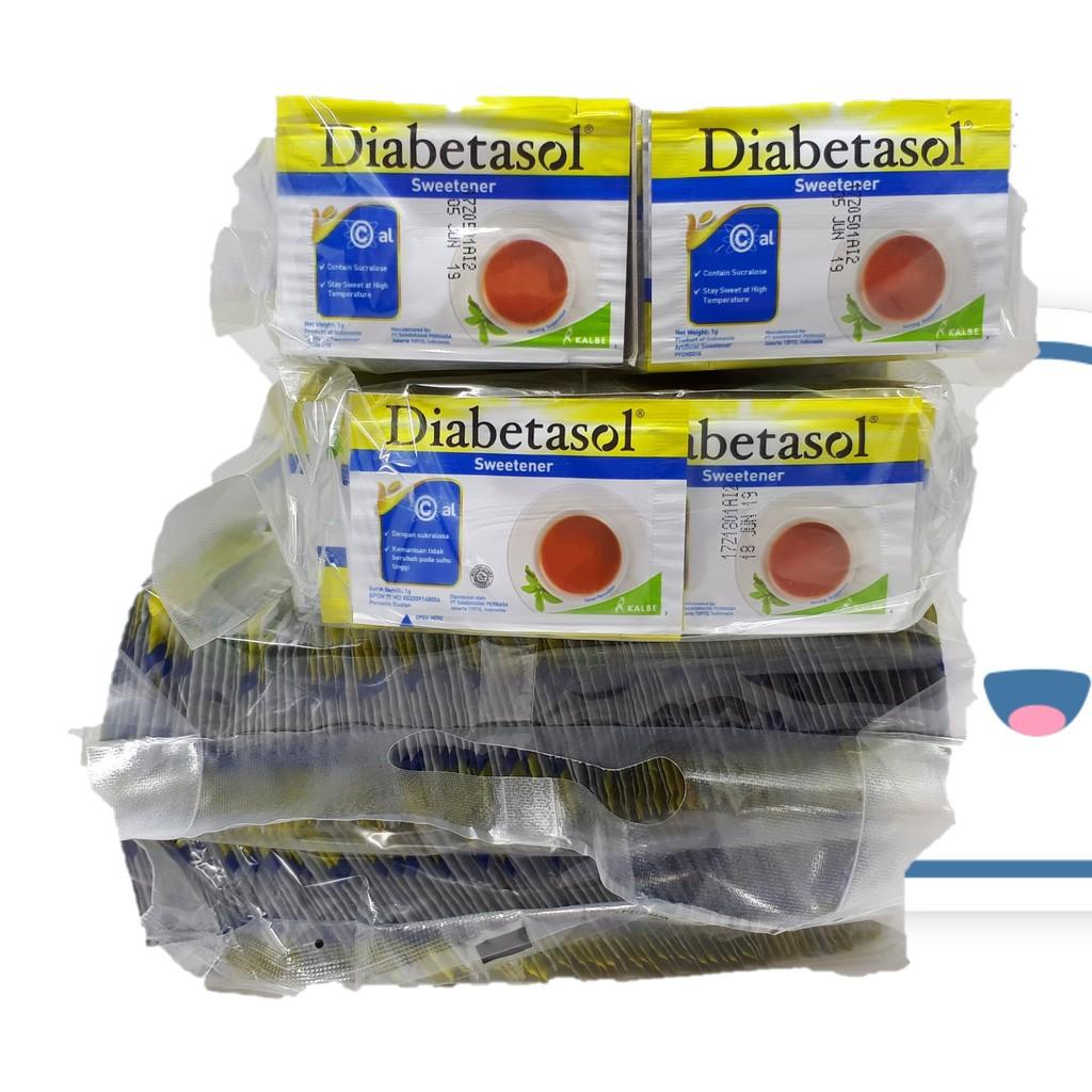 Diabetasol Stevia Sweetener Isi 50 X 2gr Shopee Indonesia Gula