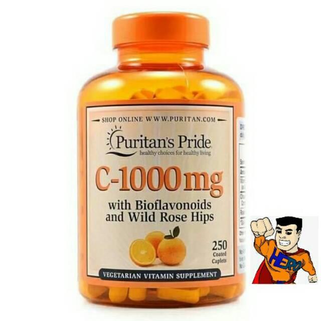 Puritan Pride Vitamin C 1000mg with Bioflavonoids&Rose Hips 100 Caps | Shopee Indonesia